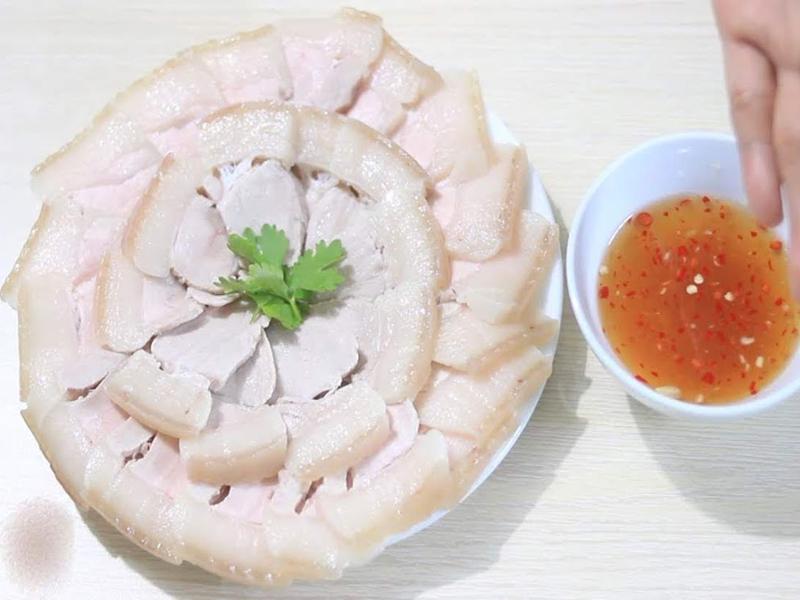 thịt ba rọi luộc